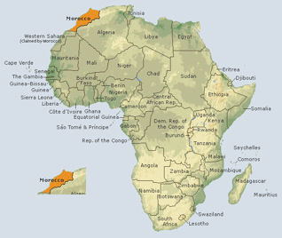 Images and Places, Pictures and Info: morocco map africa