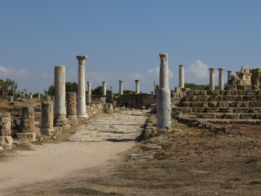 This is the way he entered the city of Salamis.